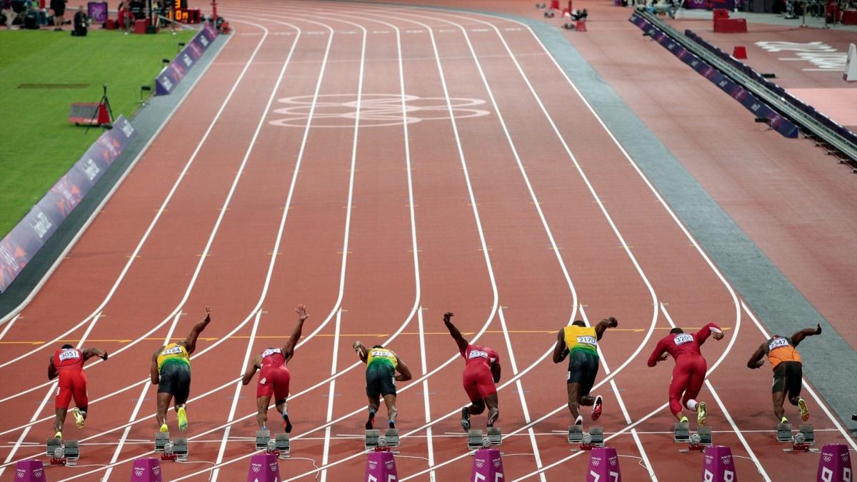 Athletics track markings